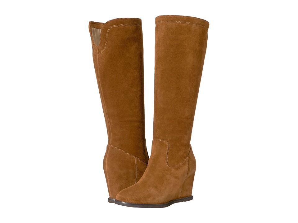 Johnston & Murphy - Rebecca Boot (Cognac Italian Suede) Women's Pull-on Boots