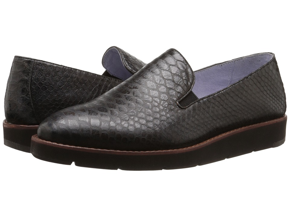 Johnston & Murphy - Paulette Slip-On (Brown Italian Snake Print Leather) Women's Slip-on Dress Shoes