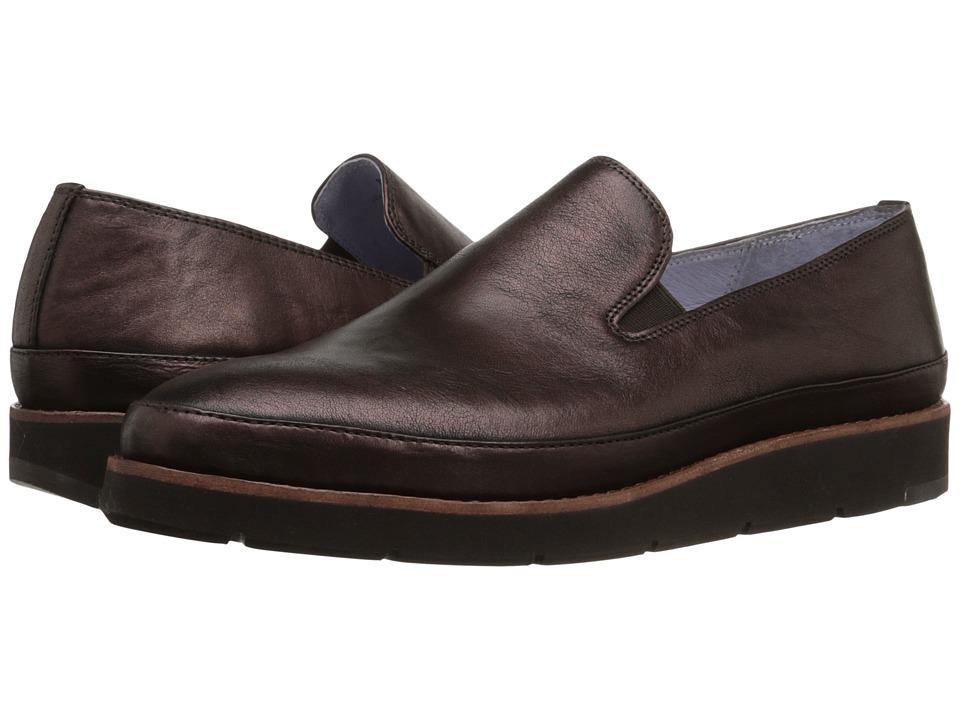 Johnston & Murphy - Paulette Slip-On (Bordeaux Italian Metallic Leather) Women's Slip-on Dress Shoes