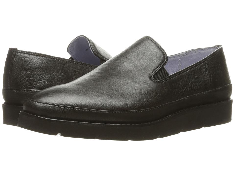 Johnston & Murphy - Paulette Slip-On (Black Italian Metallic Leather) Women's Slip-on Dress Shoes