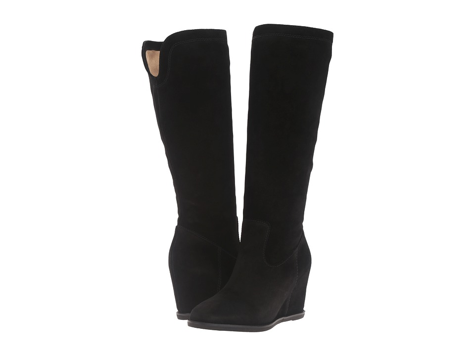 Johnston & Murphy - Rebecca Boot (Black Italian Suede) Women's Pull-on Boots
