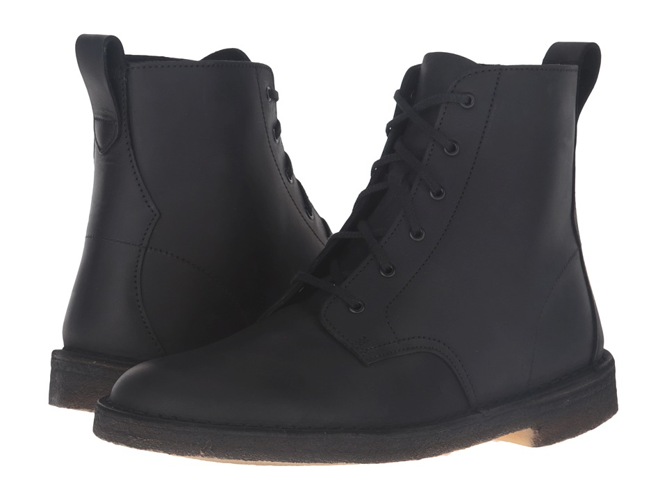 Clarks - Desert Mali Boot (Black Beeswax Leather) Men's Lace-up Boots