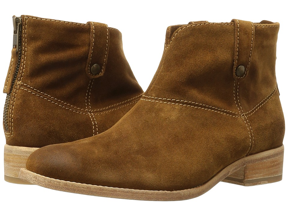 Johnston & Murphy - Stephanie Boot (Cognac Italian Suede) Women's Pull-on Boots