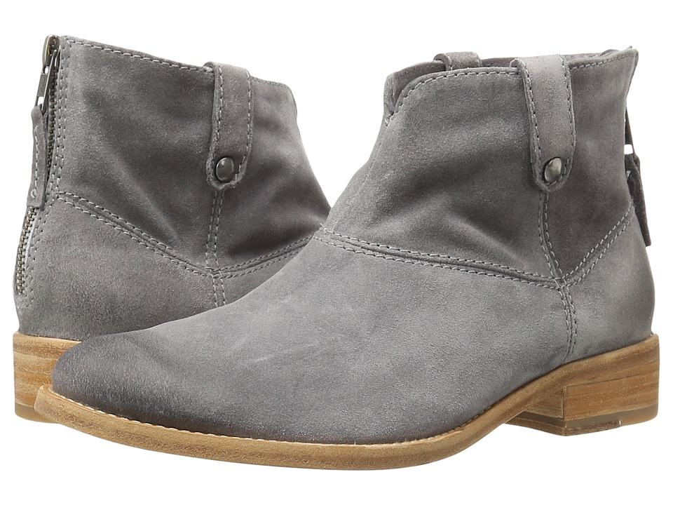 Johnston & Murphy - Stephanie Boot (Gray Italian Suede) Women's Pull-on Boots