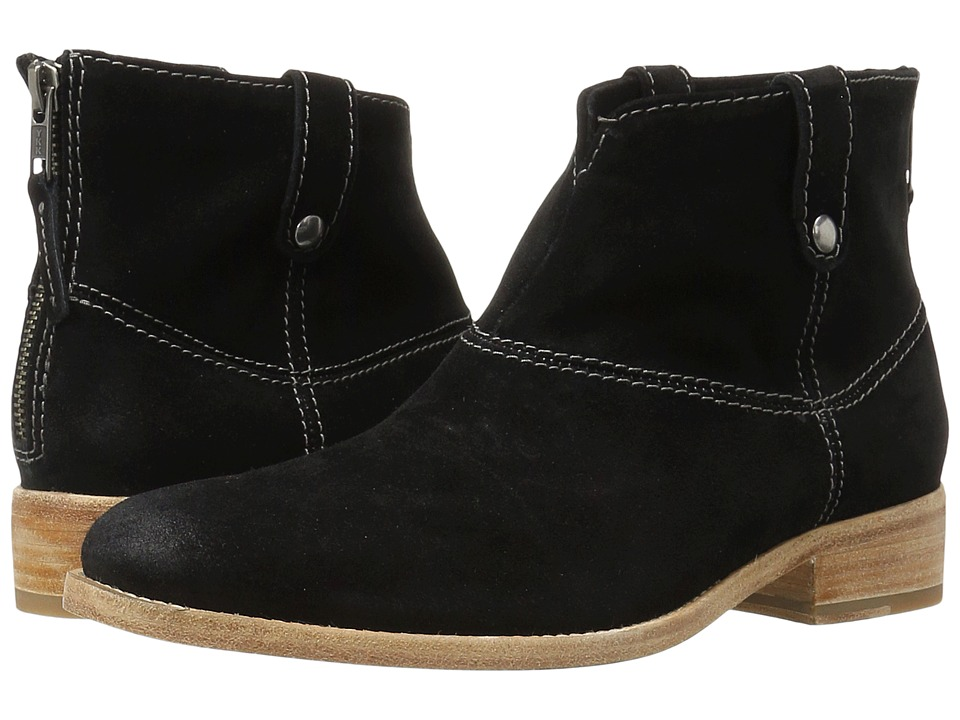 Johnston & Murphy - Stephanie Boot (Black Italian Suede) Women's Pull-on Boots