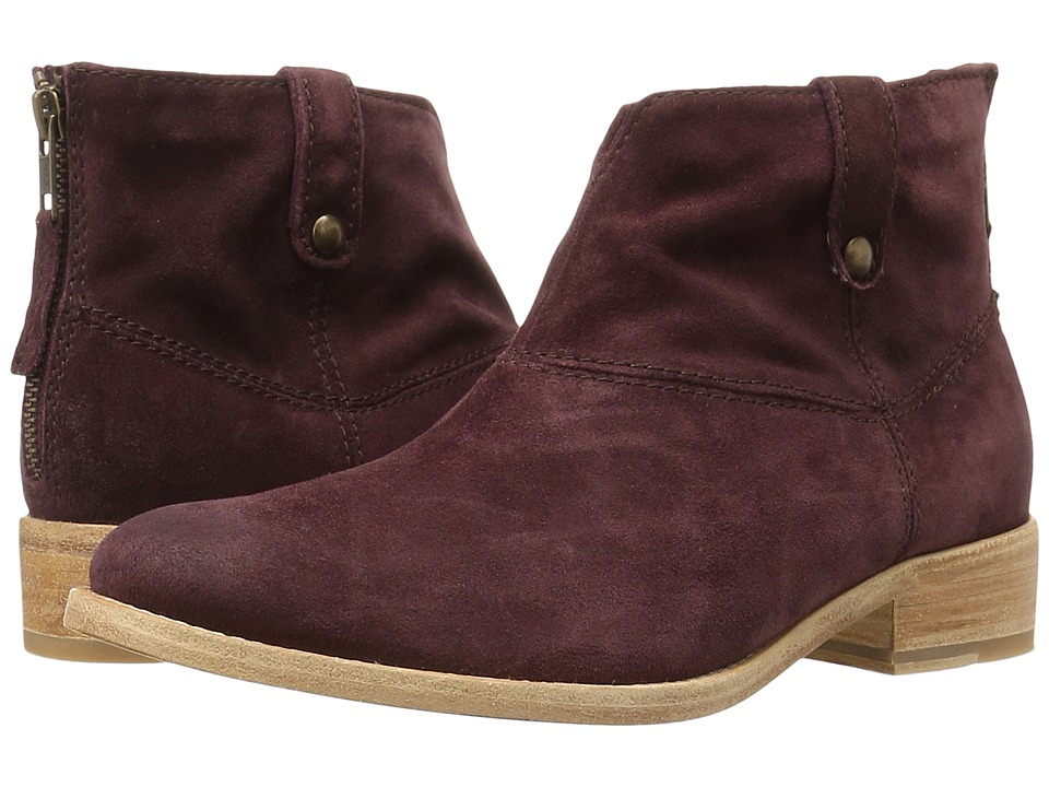 Johnston & Murphy - Stephanie Boot (Wine Italian Suede) Women's Pull-on Boots