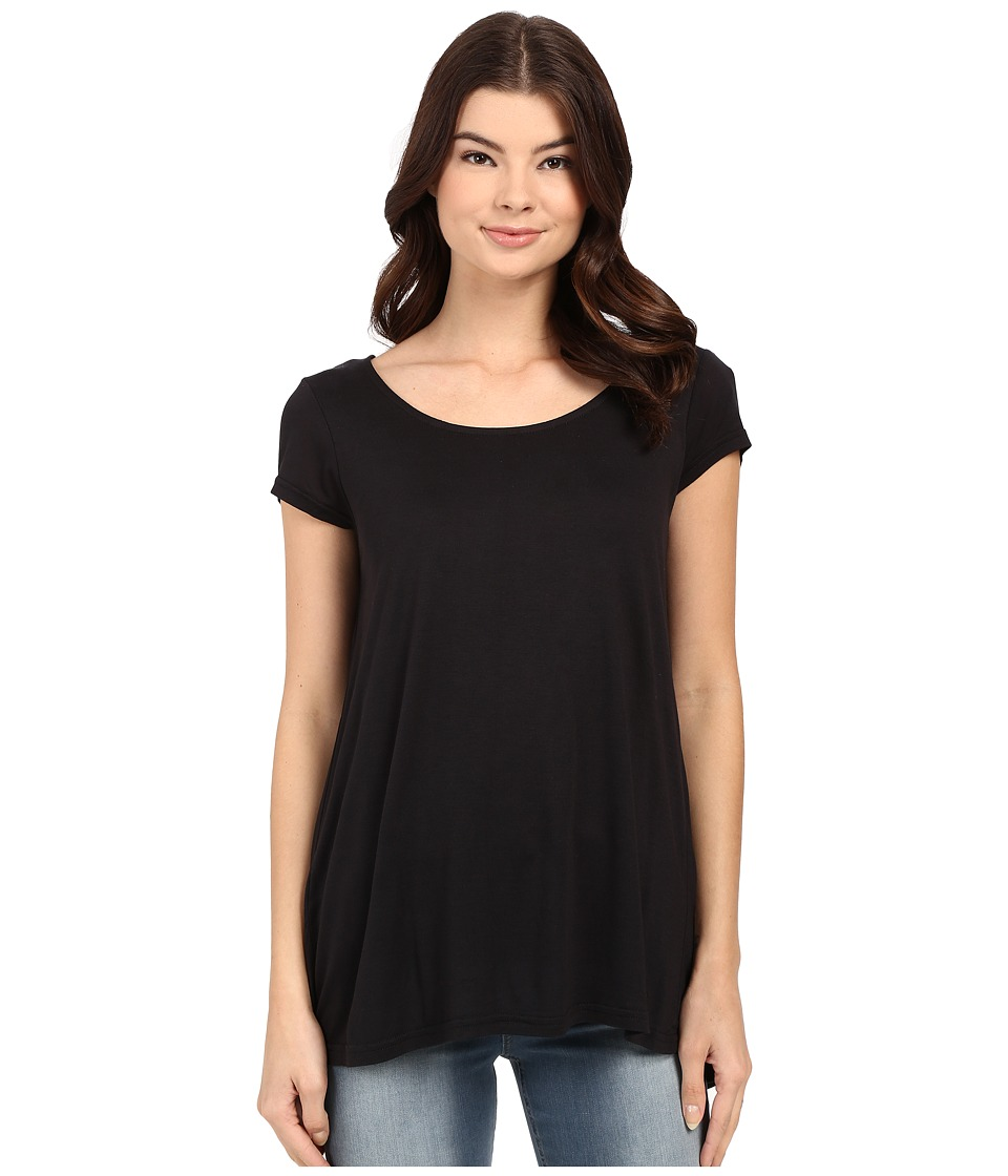 Bench - Observe Short Sleeve Top (Jet Black) Women's Short Sleeve Pullover