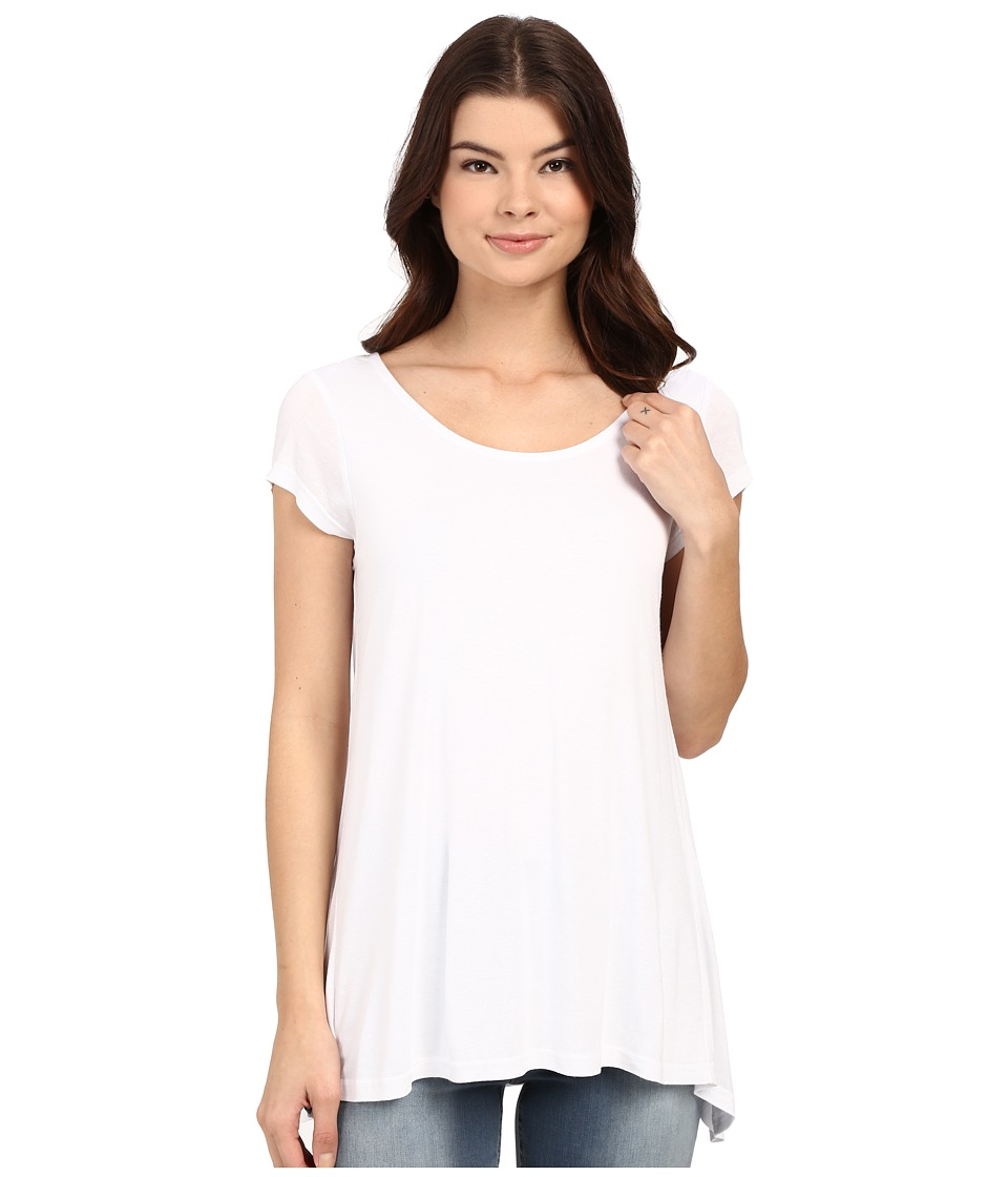 Bench - Observe Short Sleeve Top (Bright White) Women's Short Sleeve Pullover