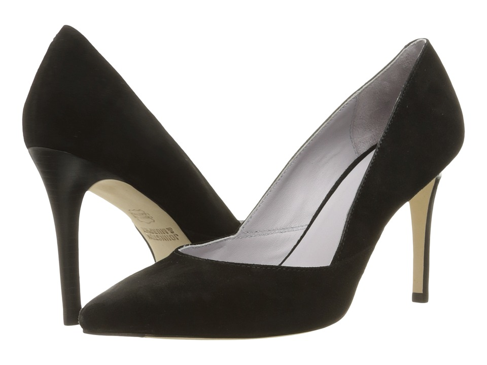 Johnston & Murphy - Vanessa Pump (Black Kid Suede) High Heels