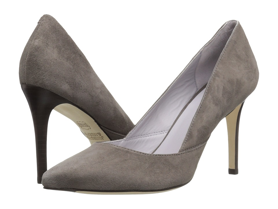 Johnston & Murphy - Vanessa Pump (Gray Kid Suede) High Heels