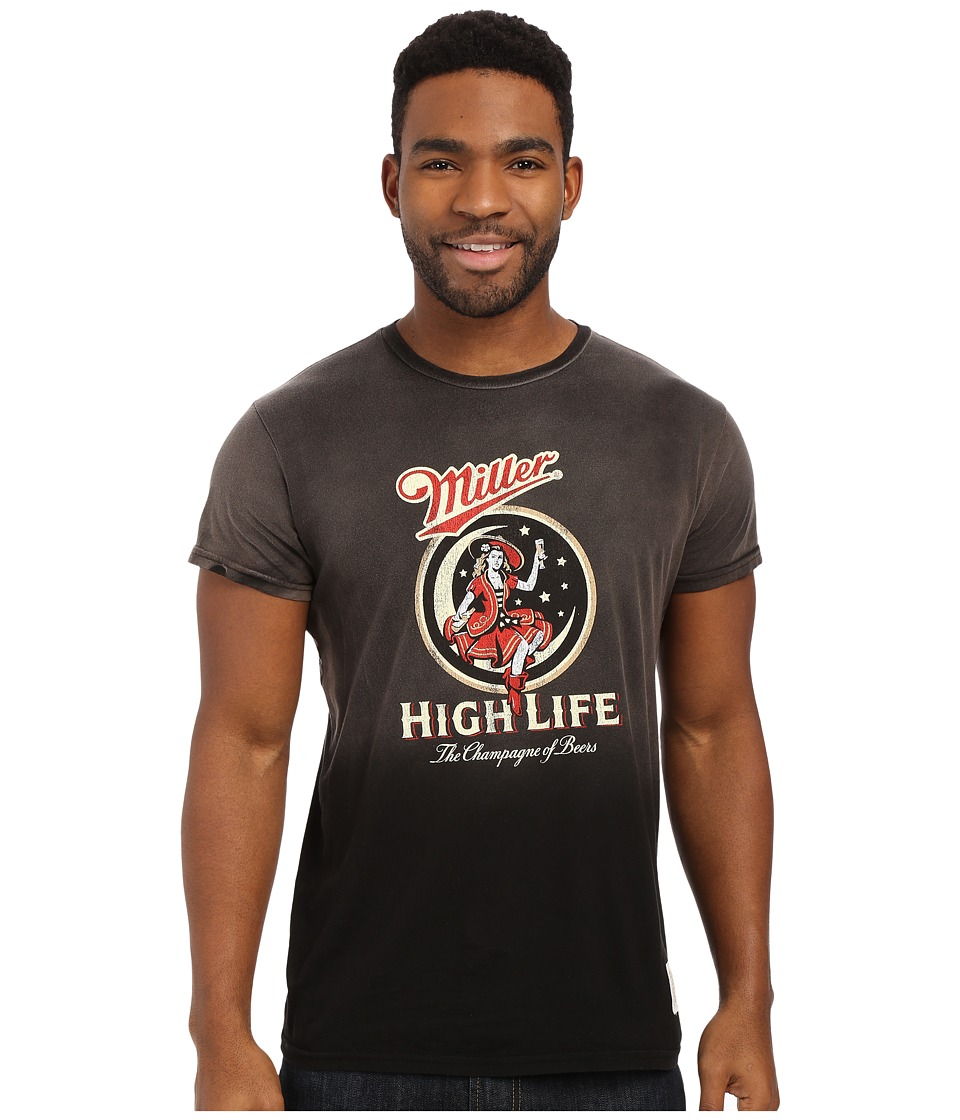 The Original Retro Brand - Potassium Wash Miller High Life Tee (Potassium Black) Men's T Shirt