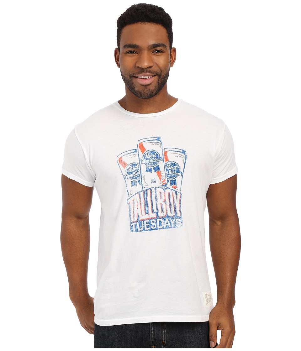 The Original Retro Brand - Vintage Cotton PBR Tall Boy Tuesday Tee (White) Men