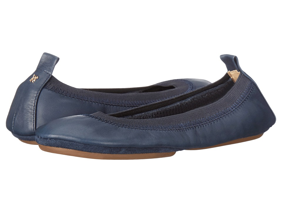 Yosi Samra - Samara Flat Leather (Deep Navy) Women's Flat Shoes
