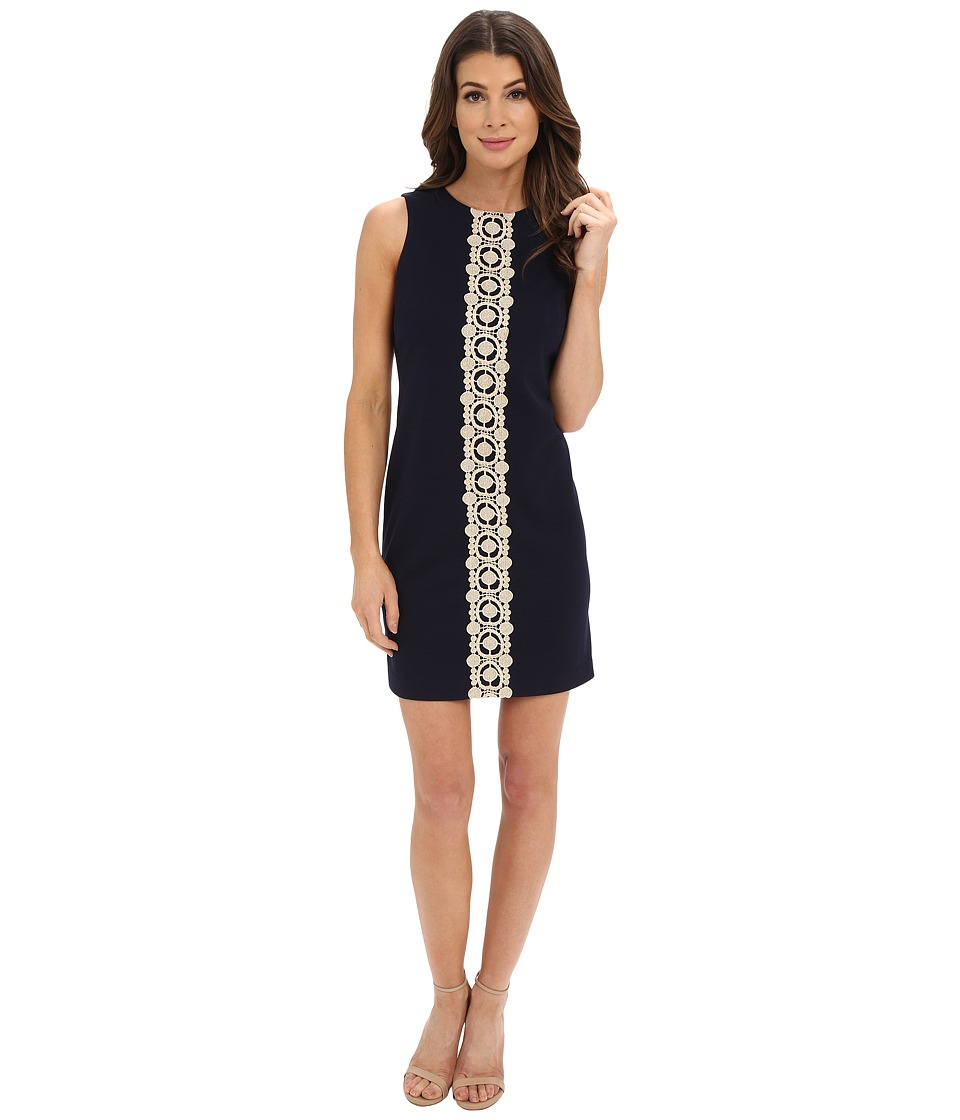 Jessica Simpson - Ottoman Shift Dress with Lace Detail (Navy) Women's Dress