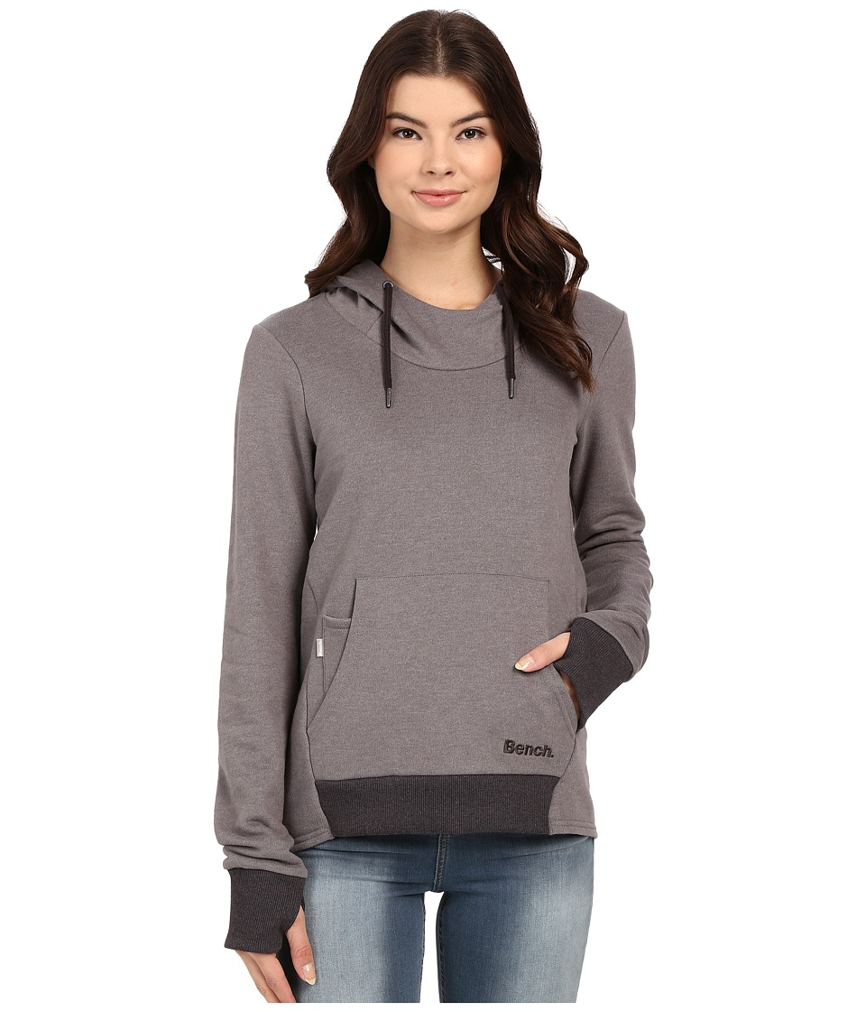 Bench - Attentiveness Overhead Pullover Hoodie (Smoked Pearl) Women's Sweatshirt