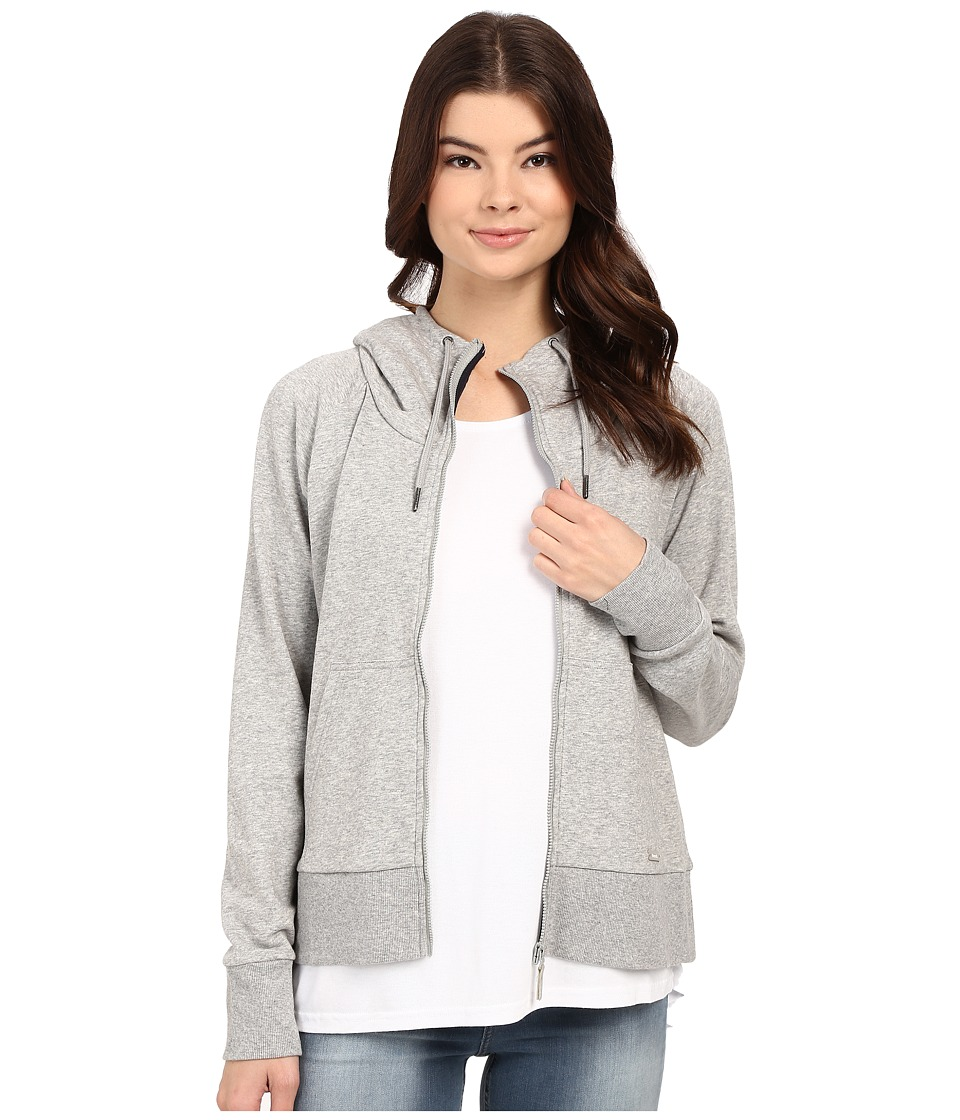 Bench - Effortless Full Zip Hoodie (Grey) Women's Sweatshirt
