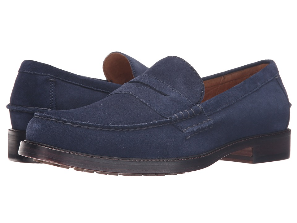 Polo Ralph Lauren - Dustan (Newport Navy Sport Suede) Men's 1-2 inch heel Shoes