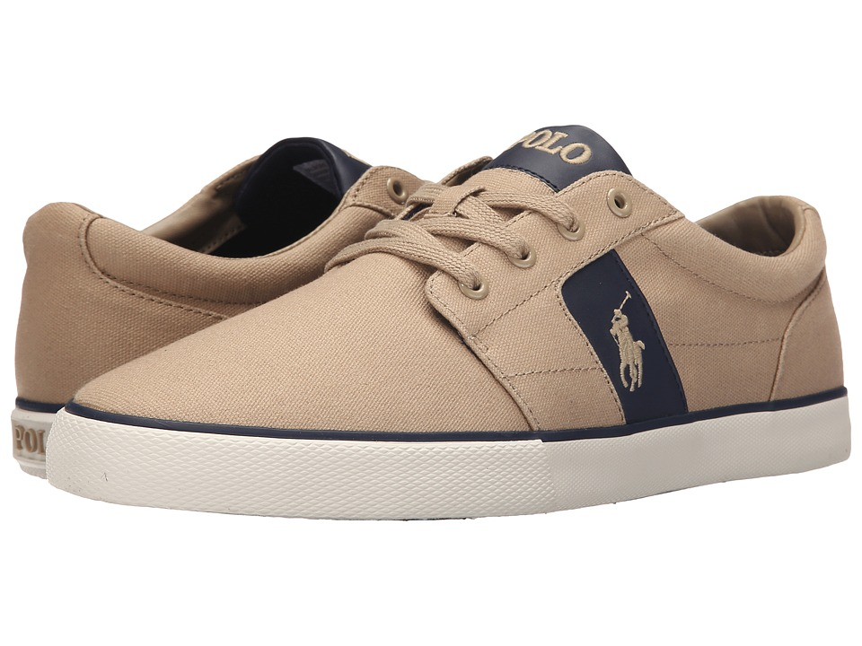 Polo Ralph Lauren - Halmore (Khaki Canvas/PU) Men's Lace up casual Shoes