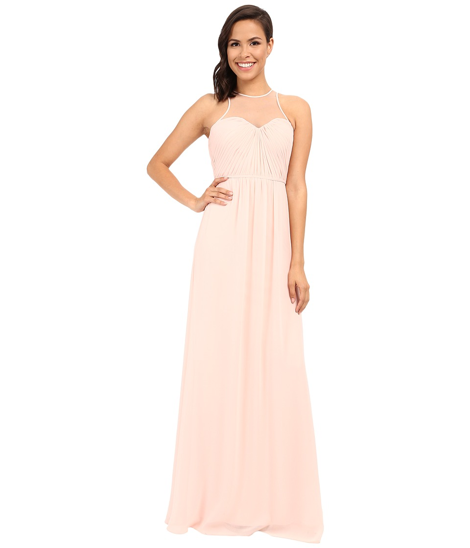 Faviana Chiffon Gown with Illusion Sweetheart Neckline-Rouched Bodice Keyhole Back 7774 Cameo Dress
