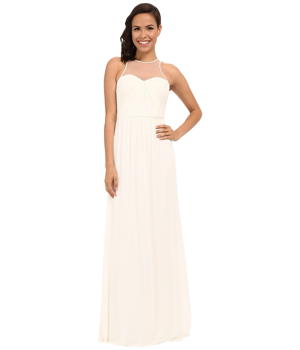 Faviana - Chiffon Gown with Illusion Sweetheart Neckline/Rouched Bodice Keyhole Back 7774 (Ivory) Women's Dress