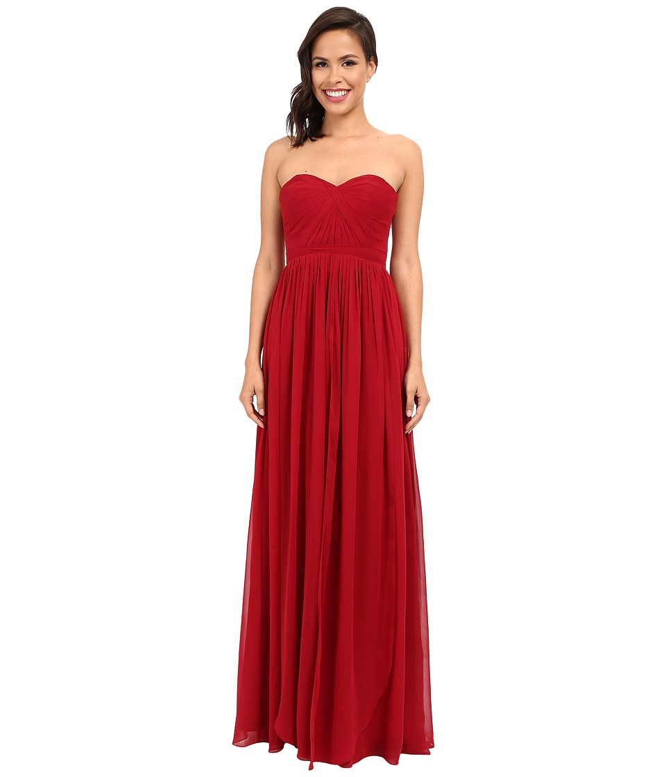 Faviana - Strapless Chiffon Convertible Dress 7822 (Ruby) Women's Dress
