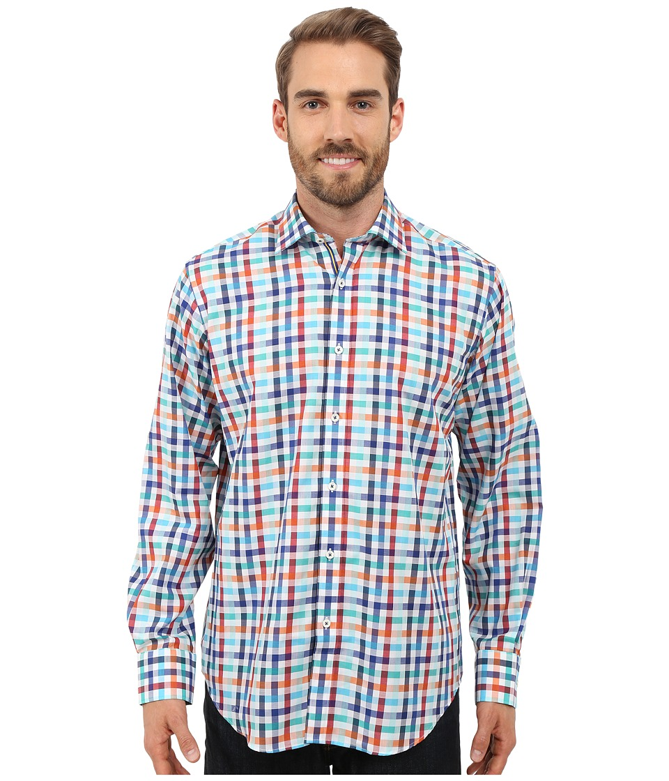 BUGATCHI - Florence Classic Fit Long Sleeve Woven Shirt (Chalk) Men