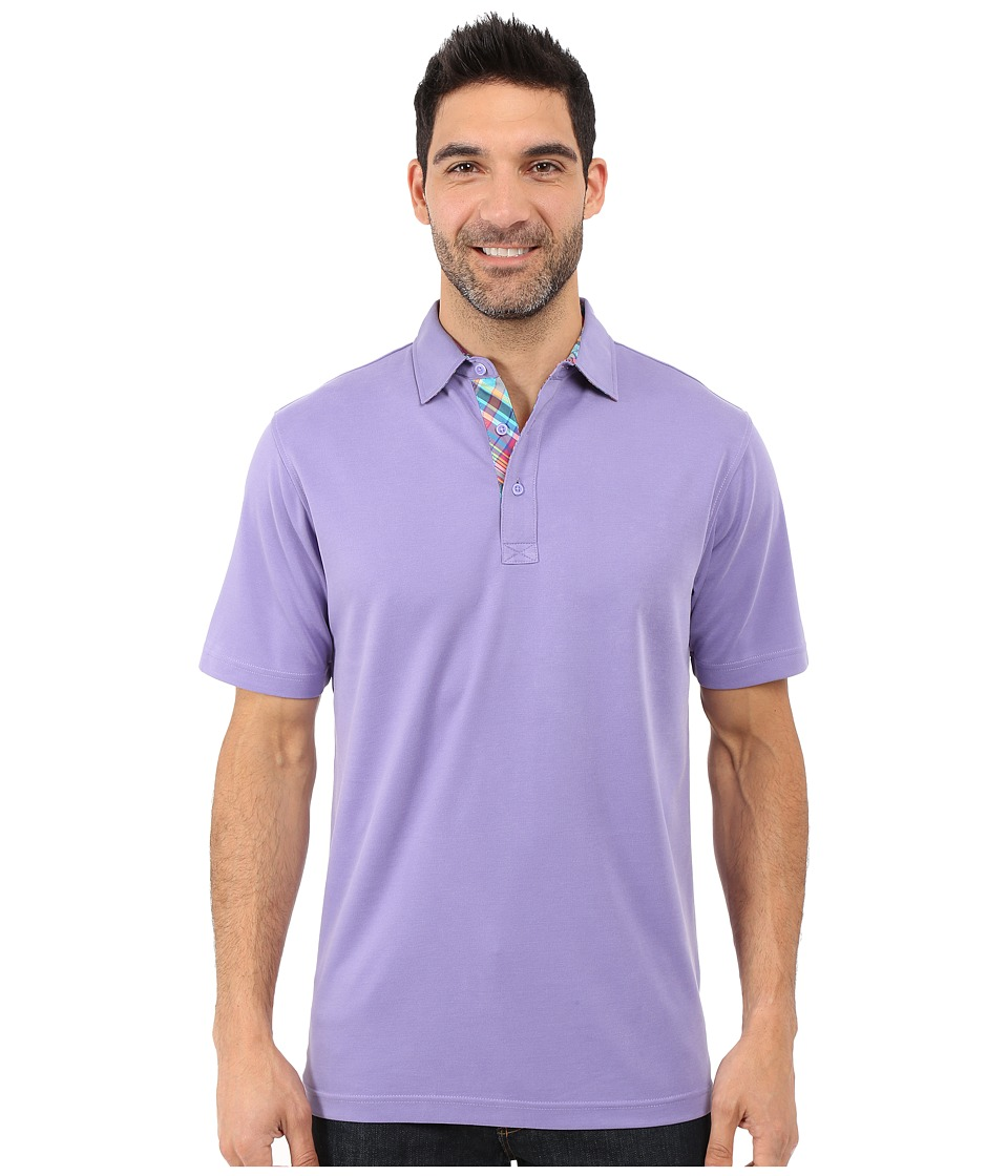 BUGATCHI - The Capri Classic Fit Short Sleeve Knit (Orchid) Men's Short Sleeve Knit