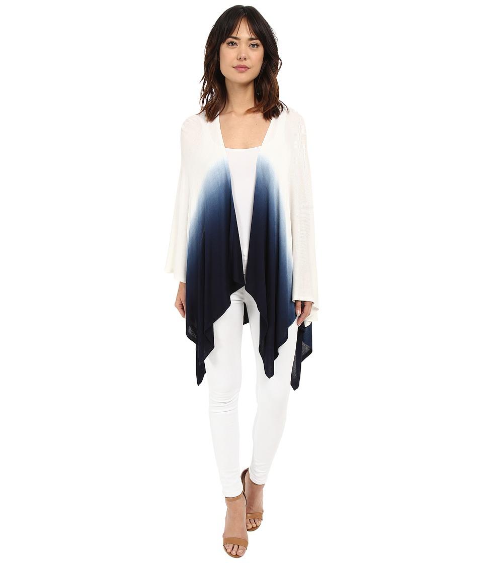 LAUREN Ralph Lauren - Talia Rayon Wrap (Capri Navy/White) Women's Sweater