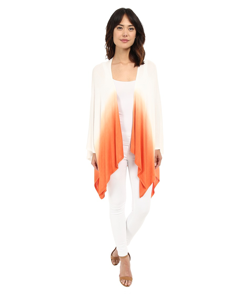LAUREN Ralph Lauren - Talia Rayon Wrap (Tropical Orange/White) Women's Sweater