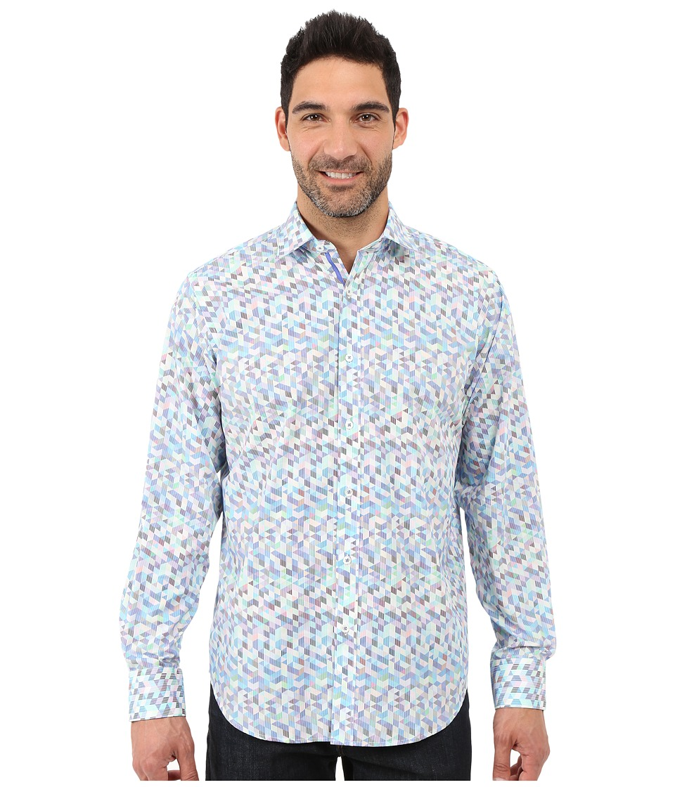 BUGATCHI - Leonardo Classic Fit Long Sleeve Woven Shirt (Orchid) Men's Long Sleeve Button Up