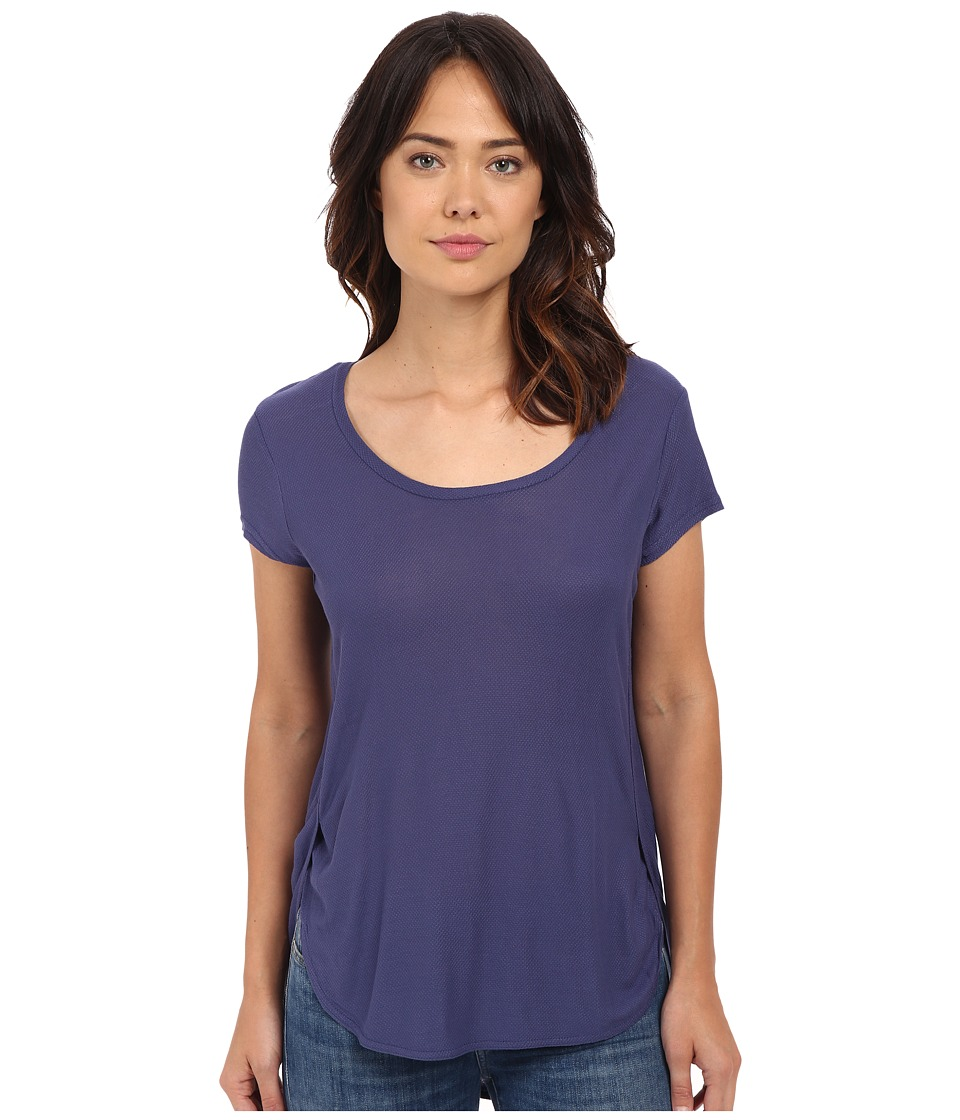 Bench - Raparound Short Sleeve Top (Deep Cobalt) Women's Short Sleeve Pullover