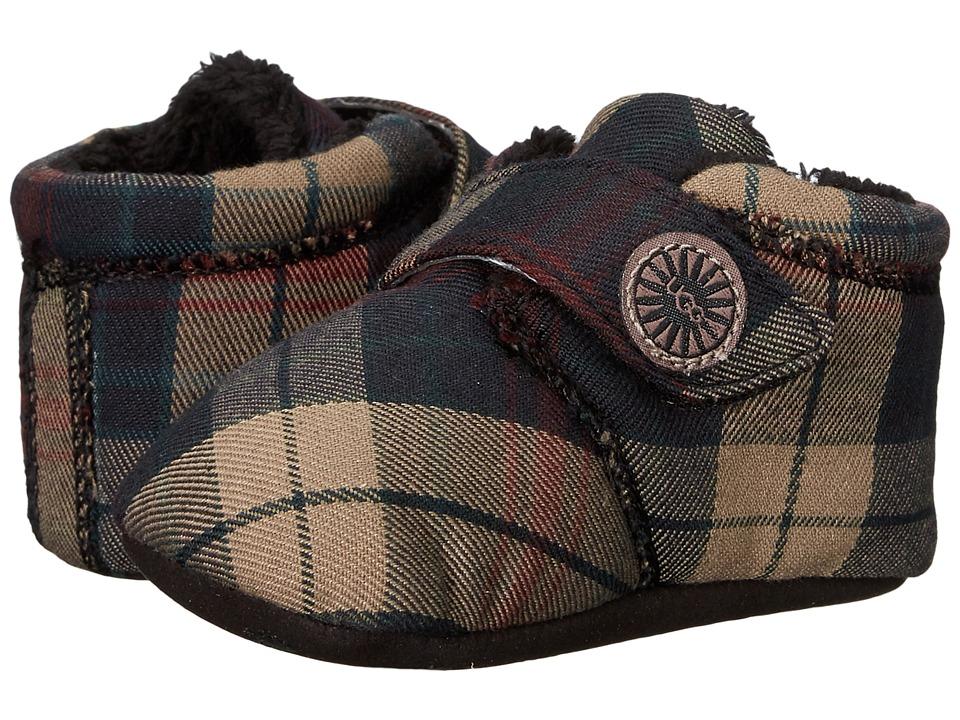 UGG Kids - Bixbee Plaid (Infant/Toddler) (Black Plaid) Girls Shoes