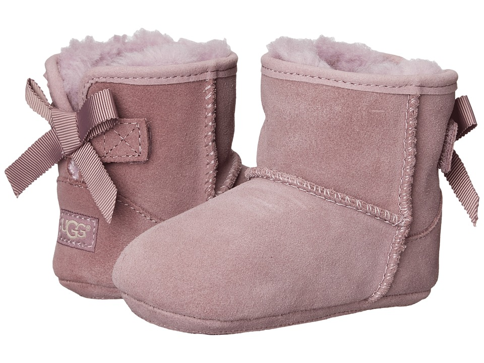 UGG Kids - Jesse Grosgrain Bow (Infant/Toddler) (Shadow) Girls Shoes