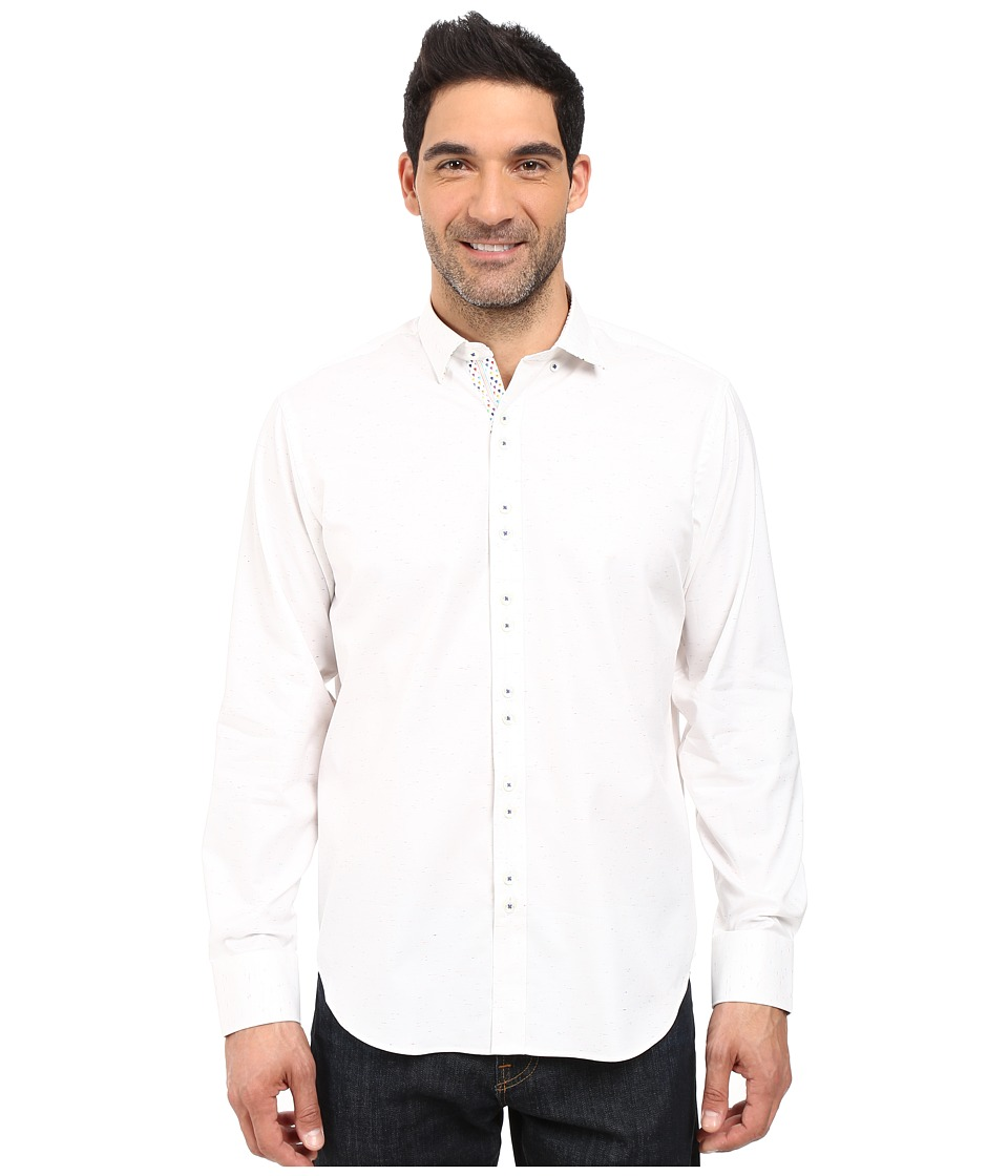 BUGATCHI - Calder Classic Fit Long Sleeve Woven Shirt (White) Men's Long Sleeve Button Up