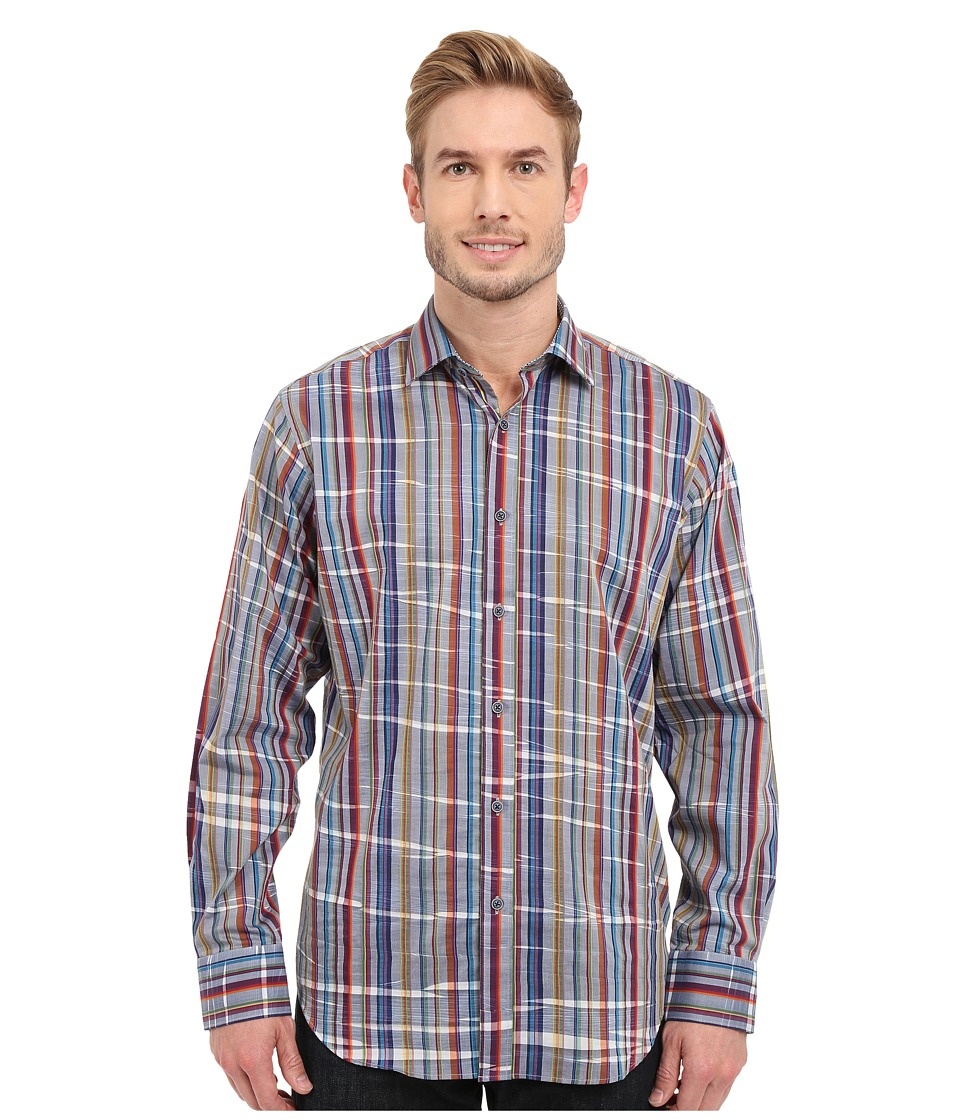 BUGATCHI - Venice Classic Fit Long Sleeve Woven Shirt (Navy) Men's Long Sleeve Button Up