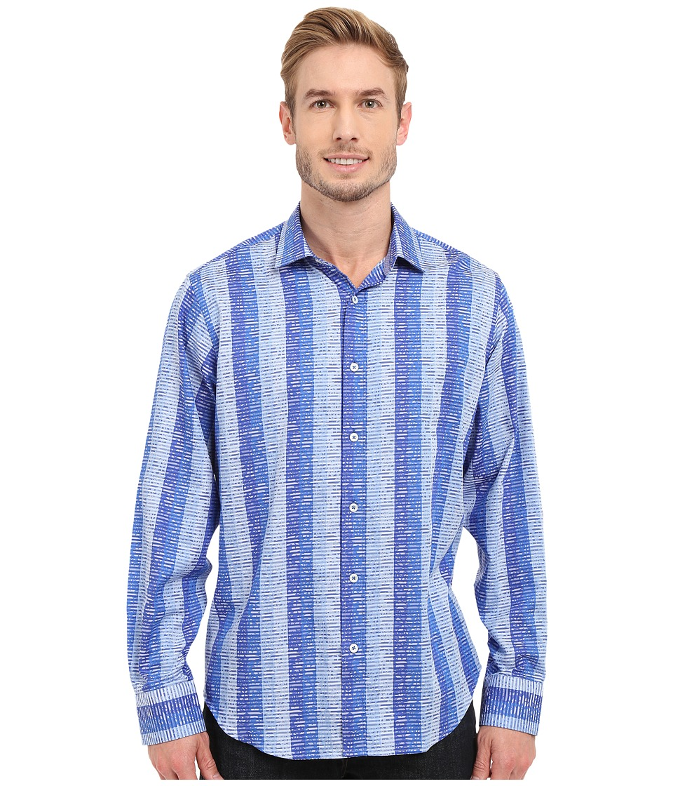 BUGATCHI - Pompeii Classic Fit Long Sleeve Woven Shirt (Classic Blue) Men's Long Sleeve Button Up