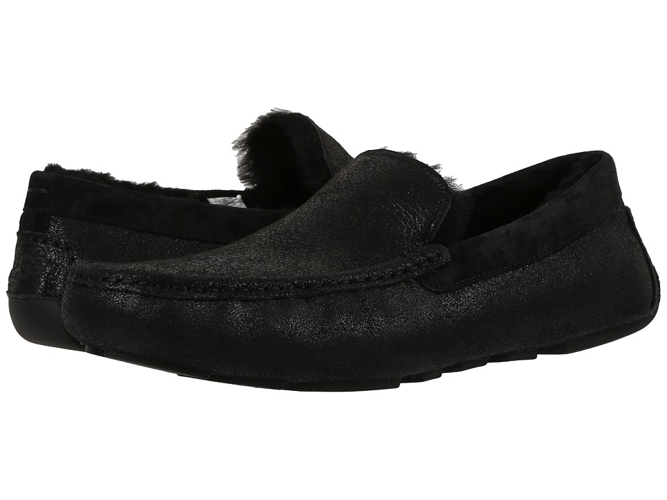 UGG - Henrick Bomber (Bomber Jacket Black) Men's Slip on Shoes