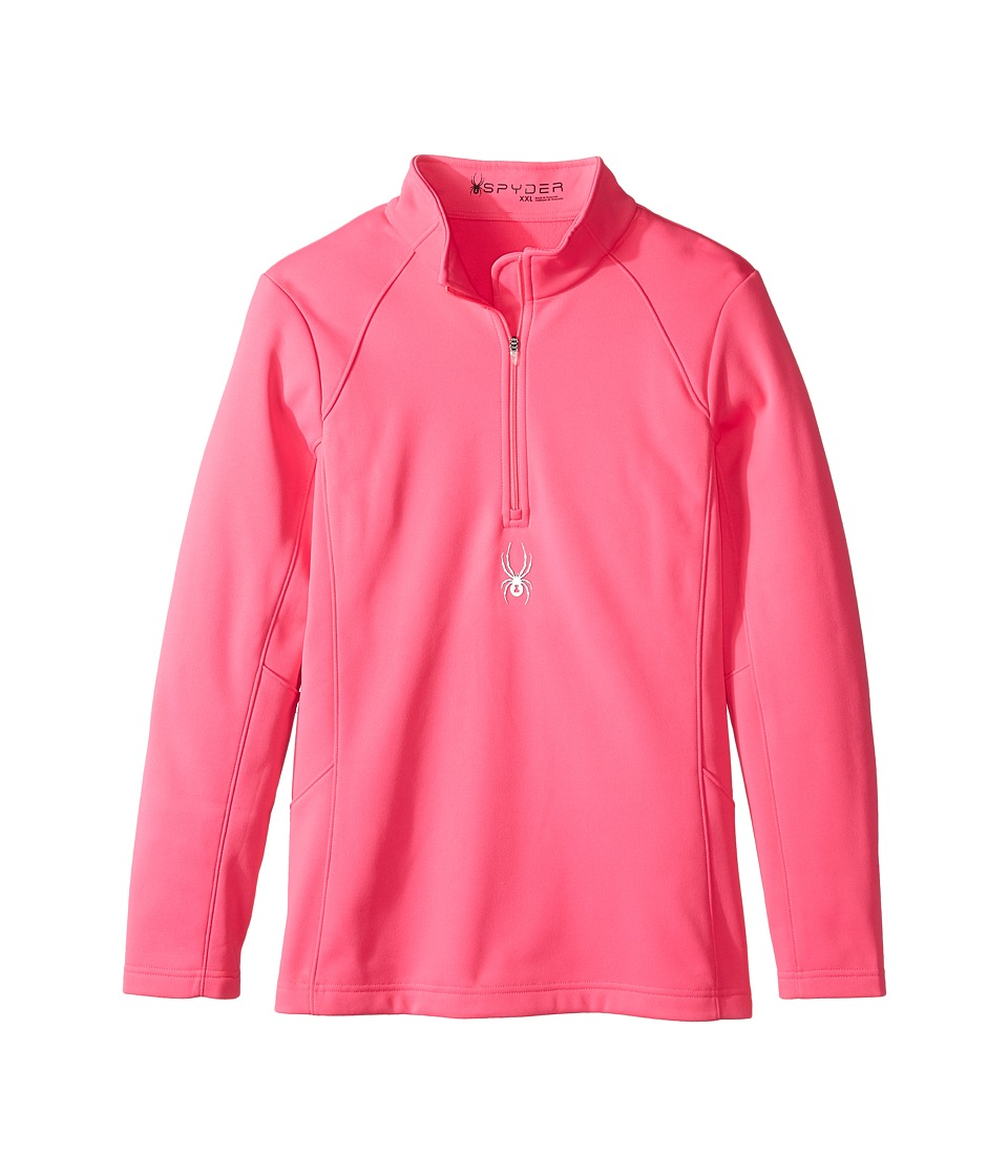 Spyder Kids - Savona Therma Stretch T-Neck (Little Kids/Big Kids) (Bryte Bubblegum/Bryte Bubblegum) Girl's Long Sleeve Pullover