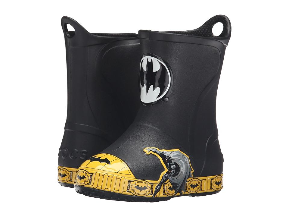 Crocs Kids - Bump It Batman Boot (Toddler/Little Kid) (Black) Kids Shoes