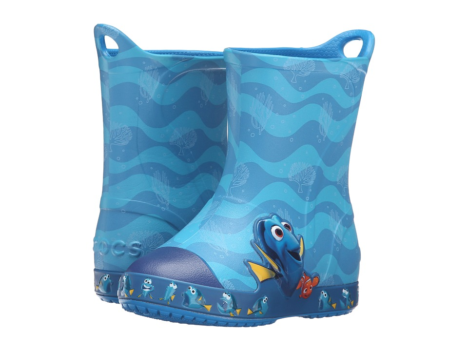 Crocs Kids - Bump It Finding Dory Boot (Toddler/Little Kid) (Ocean) Kids Shoes