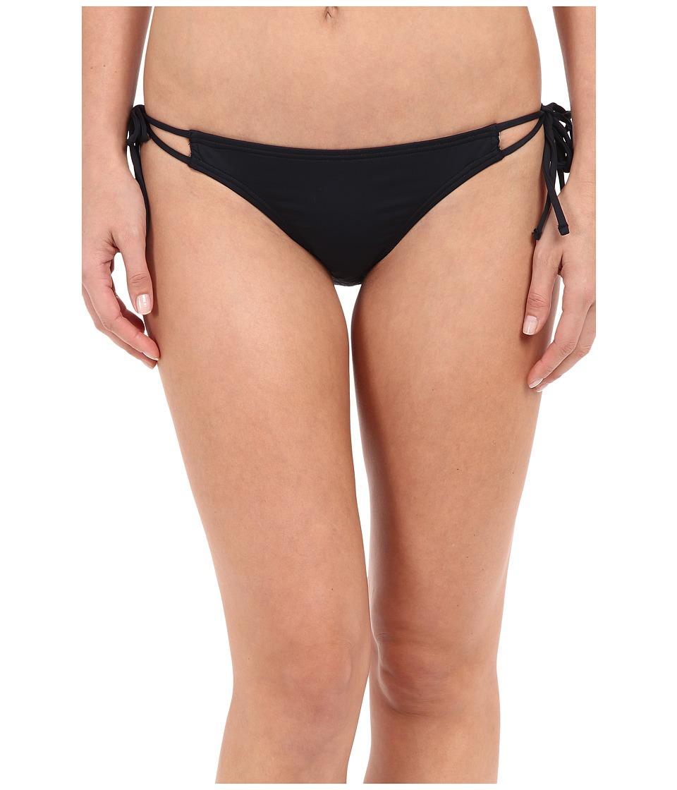 Echo Design - Solid Strappy Bottom (Black) Women's Swimwear