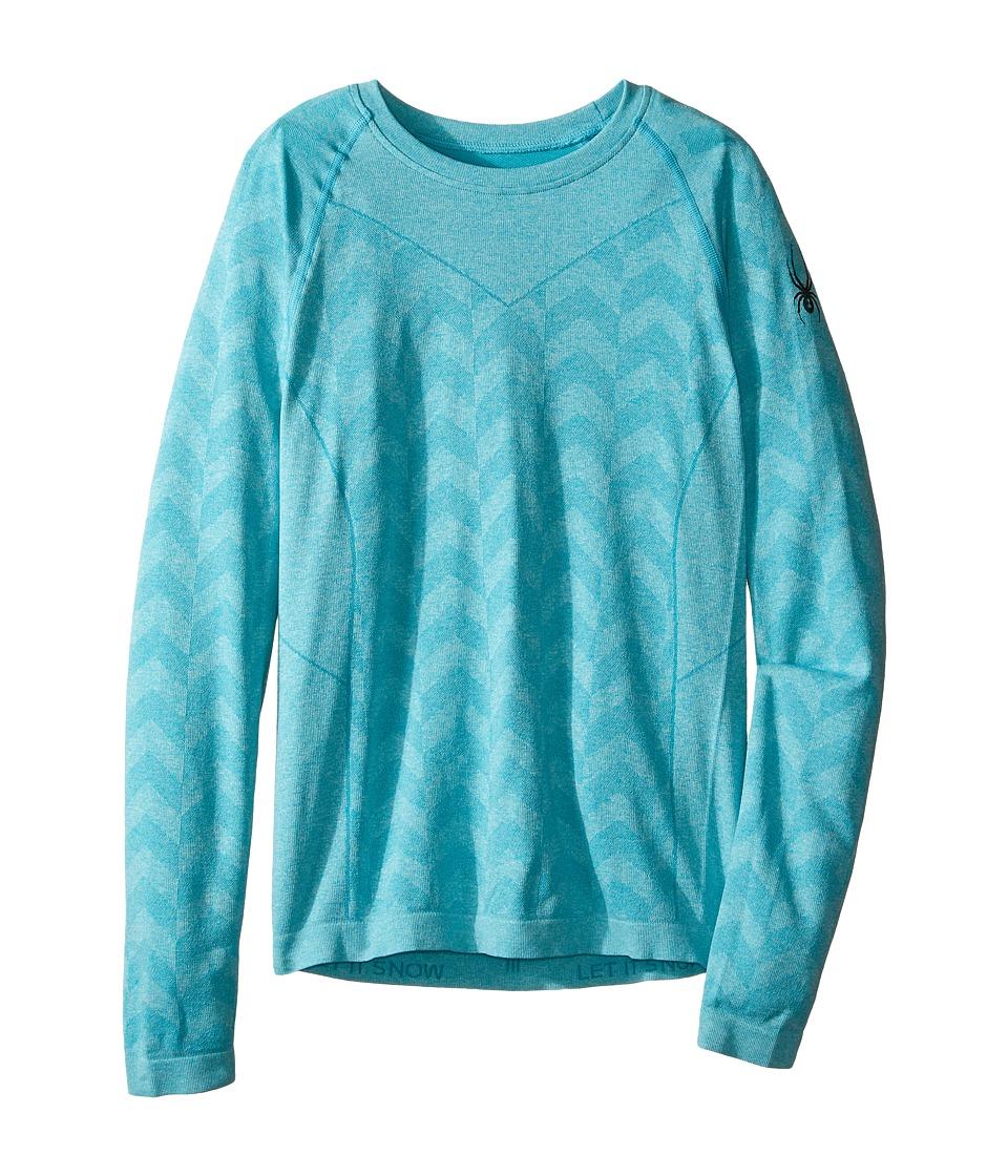Spyder Kids - Carbon Top (Big Kids) (Bluebird/Freeze) Girl's Long Sleeve Pullover
