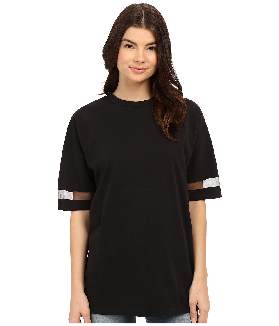 Bench - Jess Glynne x Bench collaboration- I Can See Clearer Now Tee (Jet Black) Women's Short Sleeve Pullover