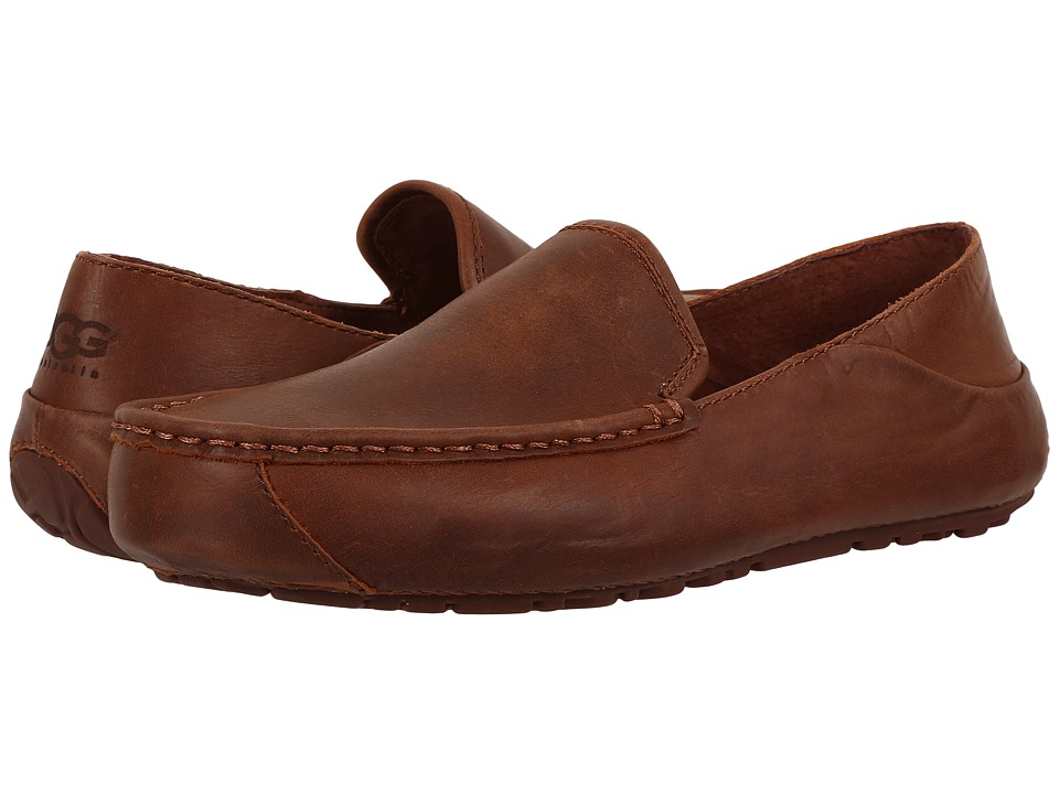 UGG - Hunley (British Tan) Men's Slip on Shoes