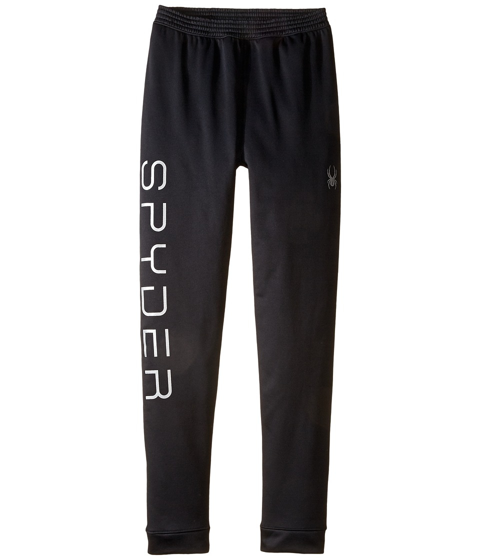 Spyder Kids - Varcity Fleece Pants (Toddler/Little Kids/Big Kids) (Black) Girl's Casual Pants