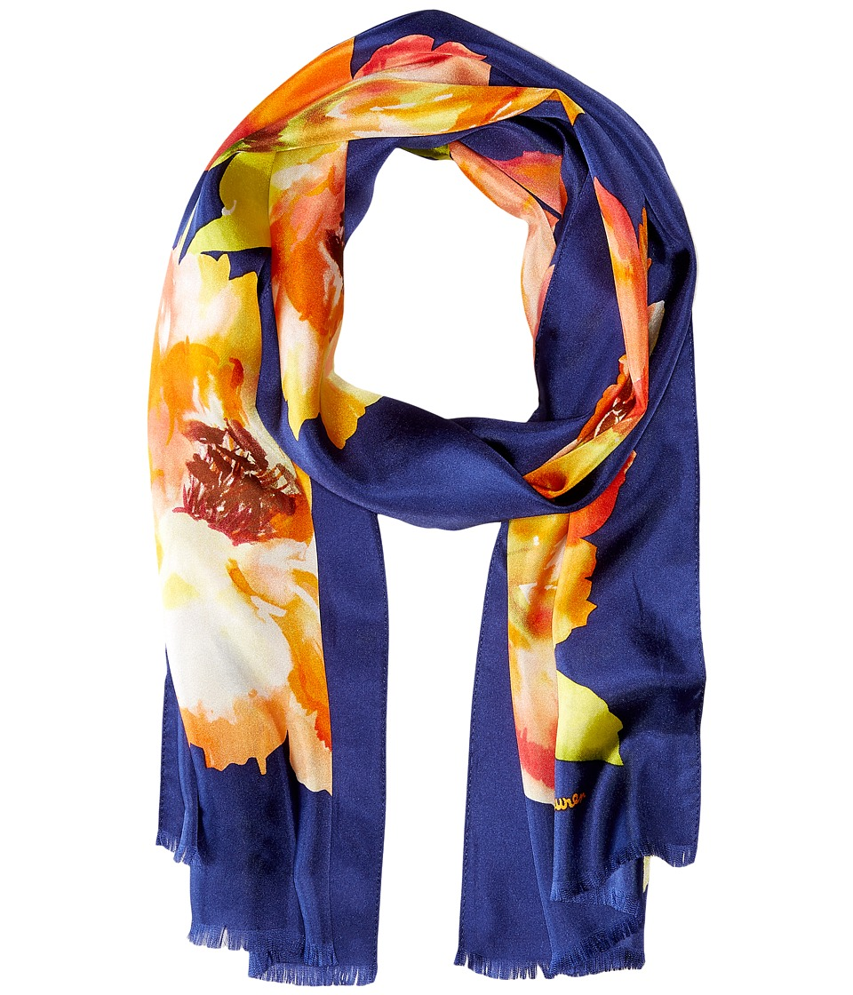 LAUREN Ralph Lauren - Evelyn Scarf (Navy) Scarves