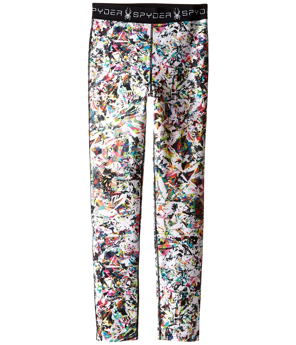Spyder Kids - Spryte Tights (Toddler/Little Kids/Big Kids) (Kaleidoscope White Print) Girl's Casual Pants