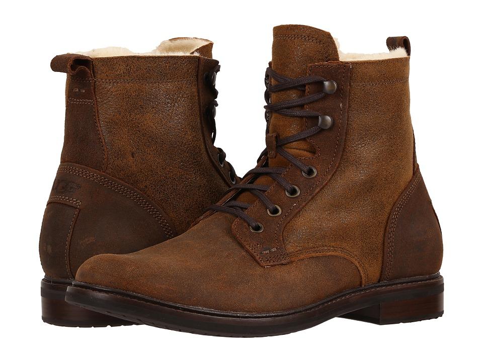 UGG - Selwood Bomber (Bomber Jacket Chestnut) Men's Boots