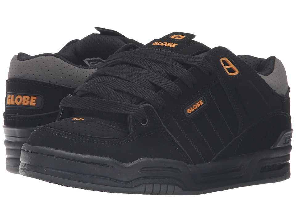 Globe - Fusion (Black/Caramello/Charcoal) Men's Skate Shoes