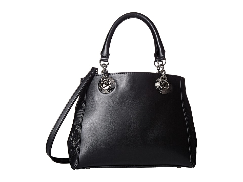 London Fog - Barrow Satchel (Black) Satchel Handbags